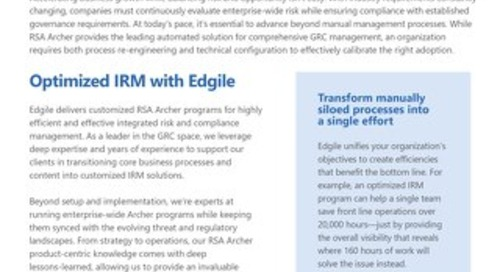 Edgile's Archer Managed Services & Consulting