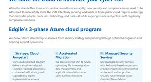 Microsoft Azure - Optimized strategy, migration, and managed services for enterprise-wide security and compliance