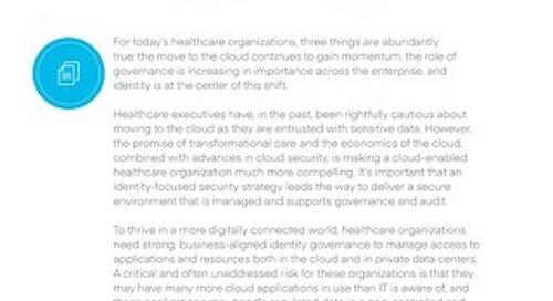 Better Together: Identity Governance for Healthcare