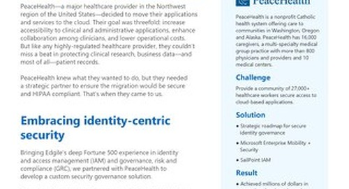 PeaceHealth: How A Secure Cloud Program Enhanced Healthcare Collaboration