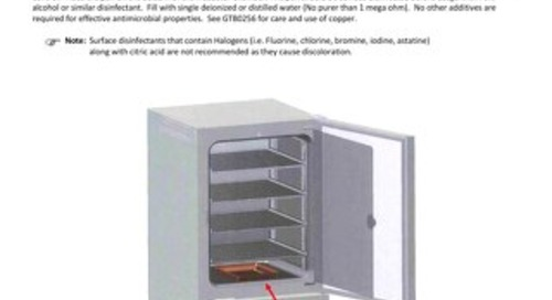[Instructions] CO2 Incubator Copper Water Pan NU-5860 Instructions