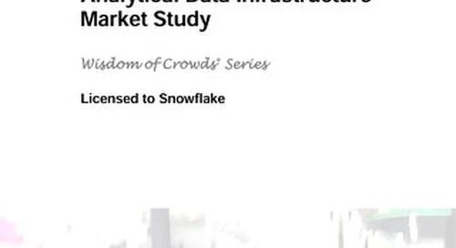 Dresner Advisory Services: 2019 Analytical Data Infrastructure Market Study