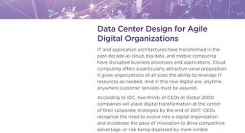 Data Center Design For Agile Digital Organizations