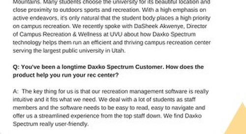 Campus Recreation Software Testimonial