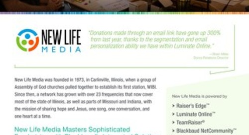 New Life Media Masters Sophisticated Fundraising