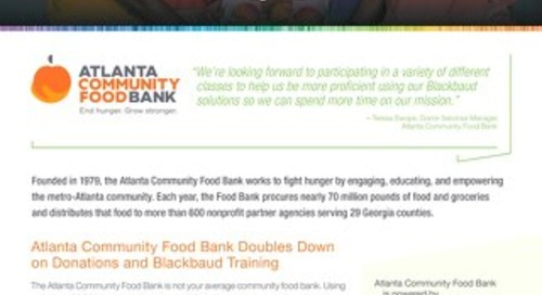 Atlanta Foodbank Story
