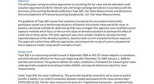 Best Practice Analysis of Credit Valuation Adjustment (CVA) Methodologies Under ASC 820