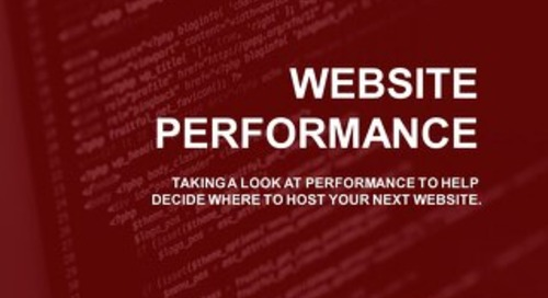 Website Performance Study by Cloud Spectator