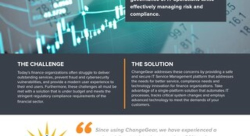 ChangeGear: Solutions for Finance