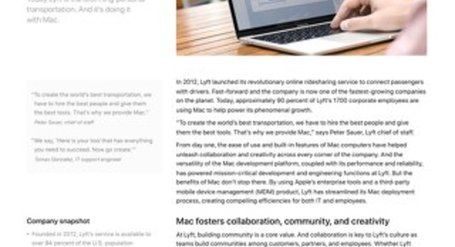 Lyft - Transforming transportation with Mac.