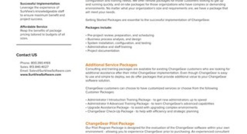 ChangeGear Professional Services