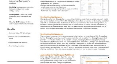ChangeGear Service Catalog