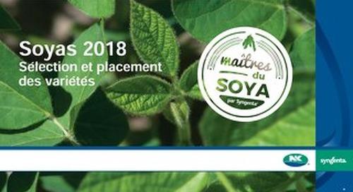 Soyas 2018 Sélection et placement des variétés