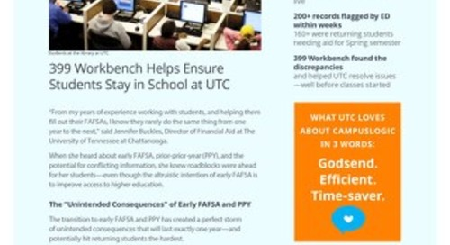 399 Workbench Is a Port in the PPY Storm for UT-Chattanooga