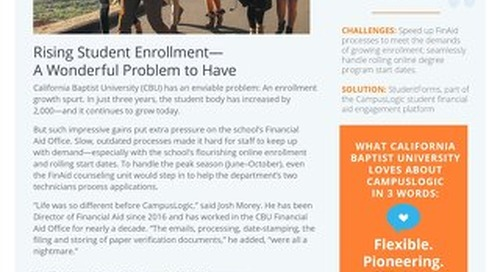 Rising Student Enrollment—A Wonderful Problem to Have