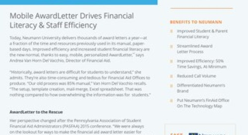 Mobile AwardLetter Drives Financial Literacy & Staff Efficiency
