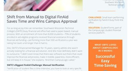 Shift from Manual to Digital FinAid Saves Time and Wins Campus Approval