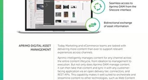 Aprimo Digital Asset Management – Sitecore Connector Data Sheet