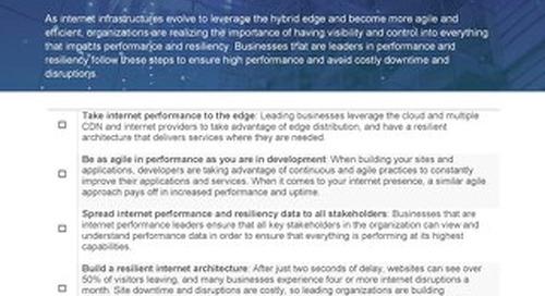 Internet Performance - Aberdeen Checklist