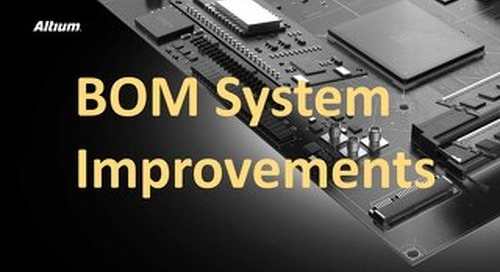 BOM System Improvements