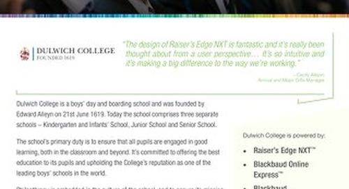 Dulwich College   Raiser's Edge NXT