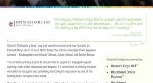 Dulwich College | Raiser's Edge NXT