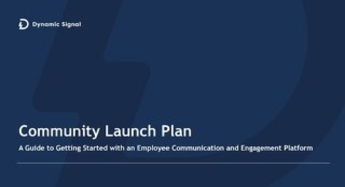 Community Launch Planning - Internal Comms
