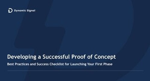 Developing a Successful Proof of Concept