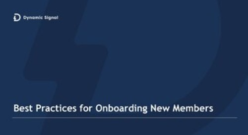 Onboarding New Members - Best Practices