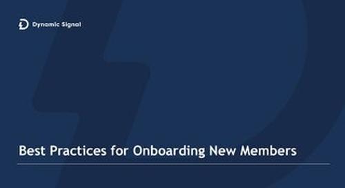 Onboarding New Members - Best Practices