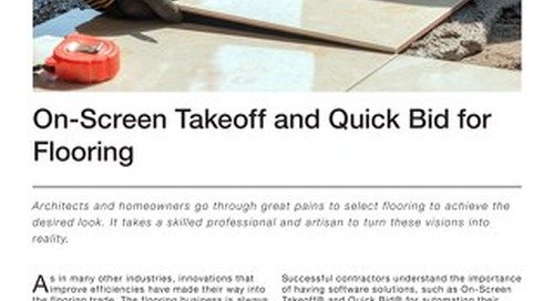Takeoff and Estimating for Flooring Contractors