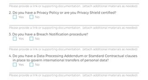 Data Processor - GDPR Compliance Assessment