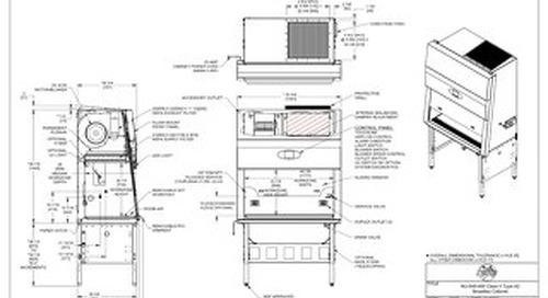 [Drawing] NU-545-400 Class II, Type A2 Biosafety Cabinet