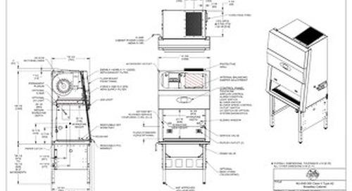 [Drawing] NU-545-300 Class II, Type A2 Biosafety Cabinet