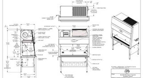 [Drawing] LabGard NU-545-500 Class II, Type A2 Biosafety Cabinet (115V)