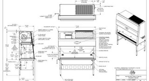 [Drawing] NU-545-600 Class II, Type A2 Biosafety Cabinet