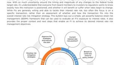 A Framework for Balance Sheet Risk Management