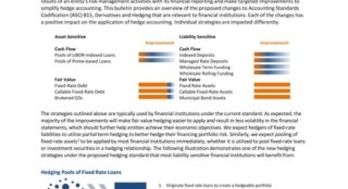 The FASB Approves Proposed Changes to Hedge Accounting
