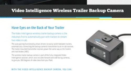 Video Intelligence Wireless Trailer Backup Camera