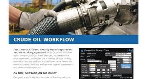 Trimble Oil and Gas Fleet Services Crude Oil Workflow