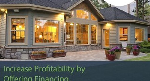 Windows Doors Ebook: Increase Profitability by Offering Financing