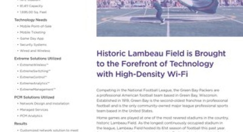 Historic Lambeau Field is Brought to the Forefront of Technology with High-Density Wi-Fi
