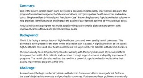 Case Study - Population Health Management