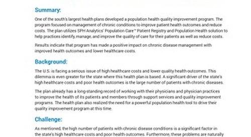 Case Study - Population Health Management
