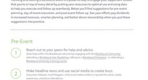 Tip Sheet: Ways to Make Your Fundraising Event a Success