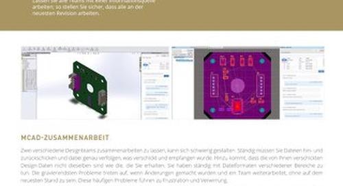MCAD Collaboration Datasheet