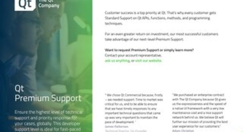 Brochure: Qt Premium Support