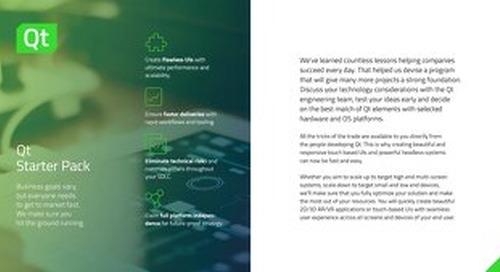 Brochure: Qt Starter Pack