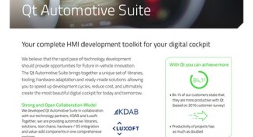 Datasheet: Qt Automotive Suite