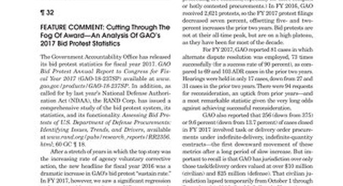 An analysis of GAO's bid protest statistics